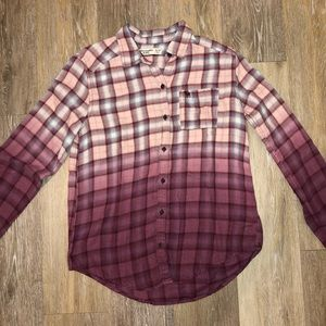 Abercrombie Pink Hombre Flannel (SIZE 13/14)